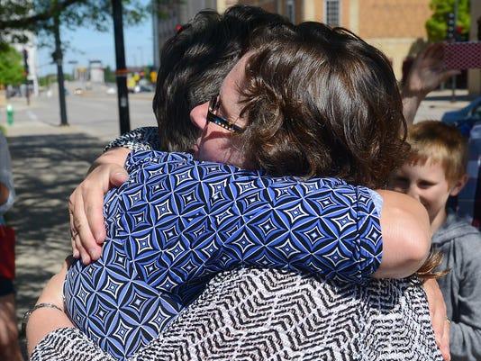 Gay marriage hug