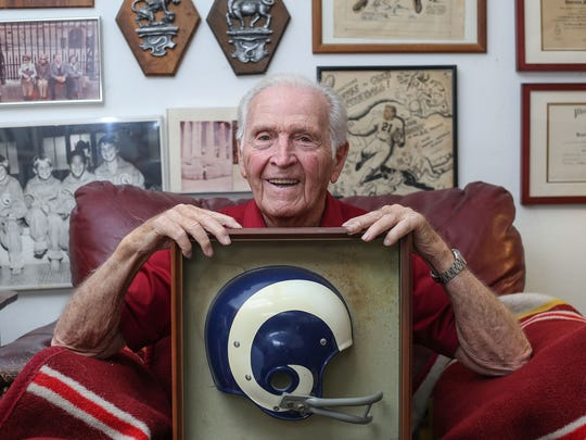 Jim Hardy once quarterbacked the Los Angeles Rams, he now lives in La Quinta.