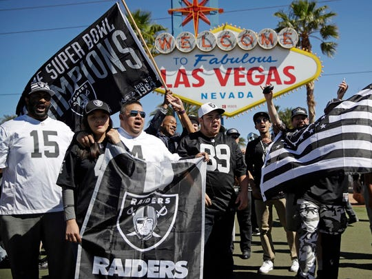 The Raiders will be moving from Oakland to Las Vegas.