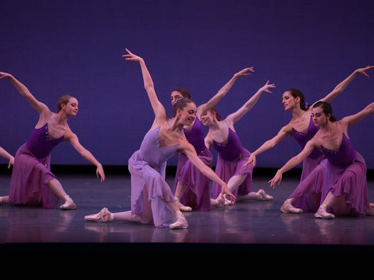 """Caroline Buckheit, center, in """"Walpurgisnacht"""" with the Boston Ballet's Next Generation showcase."""
