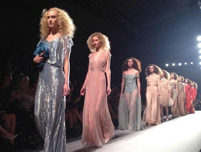 <p>For Hollywood, Fashion Week is a literal dress rehearsal: The chance to peek at what chiffon and crinoline confections might glide down the red carpet during the SAGs, Globes, Oscars and beyond. USA TODAY's Olivia Barker and Arienne Thompson pair stars with gowns.</p>