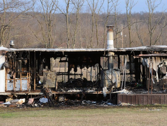 Fire destroyed the mobile home at 2915 Cattail Road