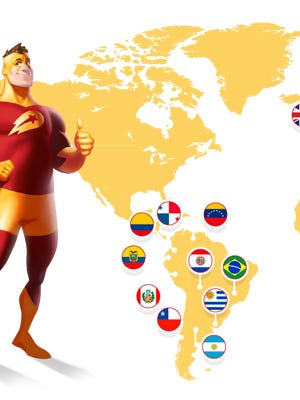 Delivery Hero map shows some of the countries where the company arranges takeout food deliveries.