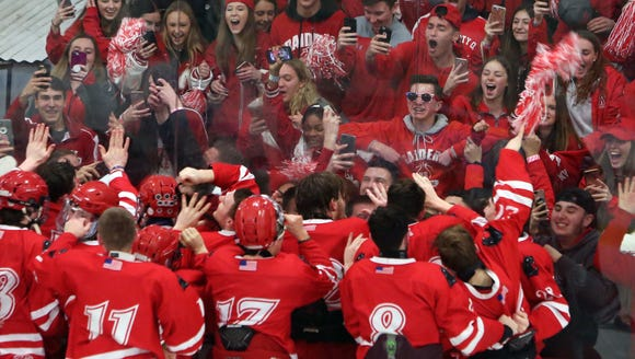 North Rockland players celebrate their 3-2 victory