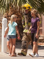 The St. George Fire Department extinguishes a structure