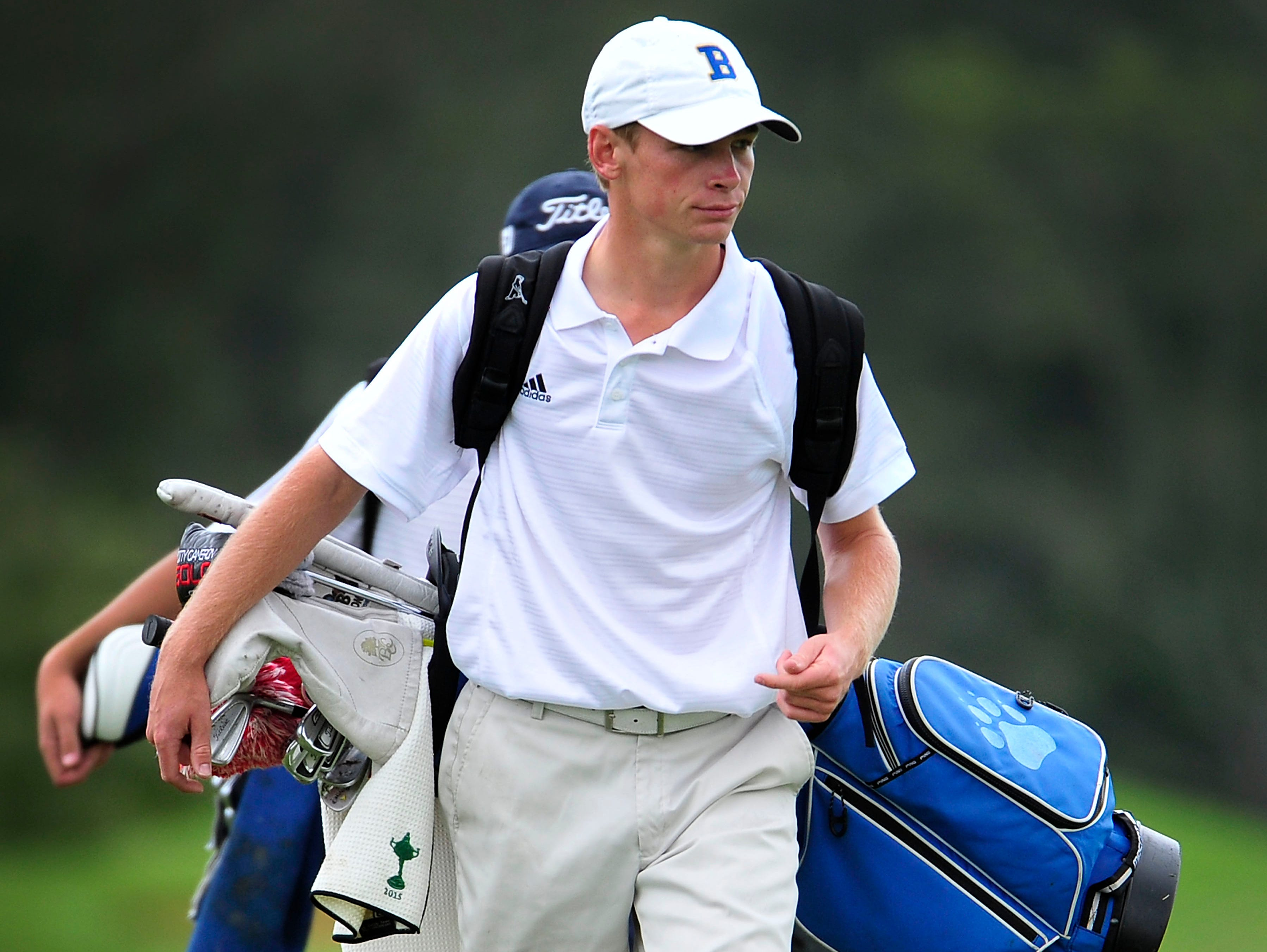 Brentwood's Trevor Johnson helped lead the Bruins to the Class AAA state golf title as a team.