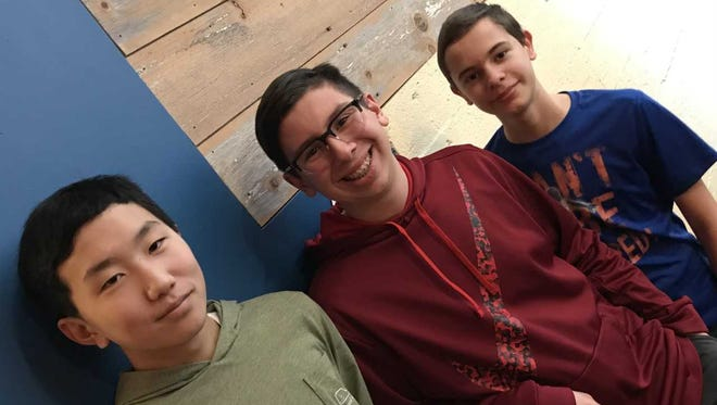 From left: Max Baek, Joey Bonadonna and Andrew Delvoye.