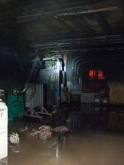 A fire started in this air compressor room at Glen-Gery Brick plant in Iberia Monday night.