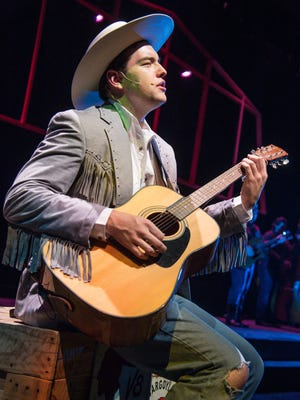 """Christopher Whiteside plays the role of Hank Williams in the Neil Simon Festival's 2016 production of """"Hank Williams: Lost Highway."""""""