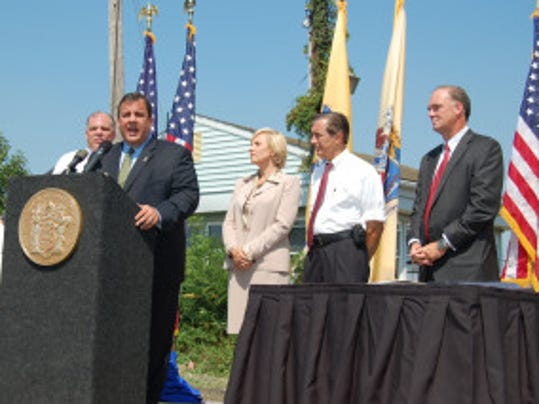 Gov. Chris Christie today makes his second visit as governor to Paulsboro. At the first, he signed the Offshore Wind Economic Development Act on August 19, 2010. (Governor's Office photo)