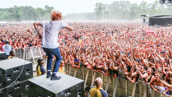 Grouplove performs at Firefly Music Festival last summer.
