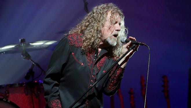 Robert Plant performs Tuesday in Indianapolis.