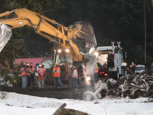 Cleanup continues on a derailed Union Pacific train in Mer Rouge Monday morning. The derailment occurred Sunday when the train struck a stalled vehicle on the track.
