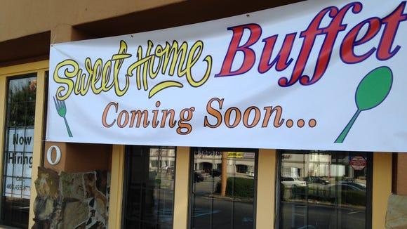 Sweet Home Buffet opens Oct. 1.