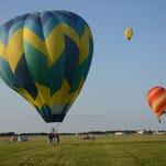Balloons swoop in