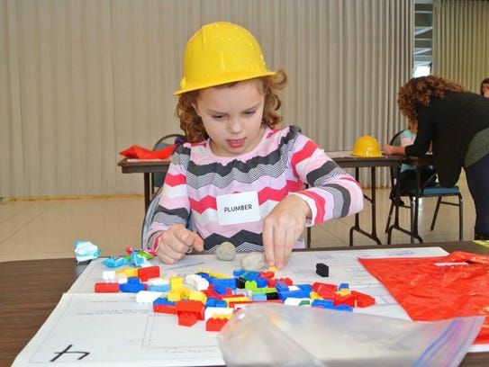 Kids can compete for prizes at the LEGO building competition.