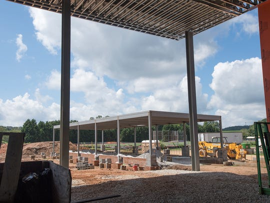 The Four Season Pavilion in what will be the outdoor village at the new Clemson football facility on Saturday, August 13, 2016.