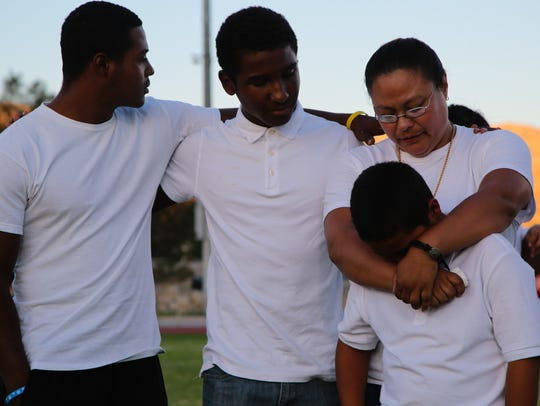 The family of former Desert Hot Springs player Solomon