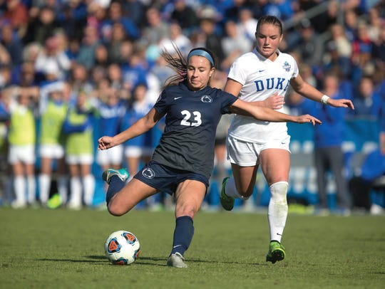 Nickolette Driesse performed for Penn State (No. 23),