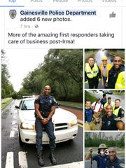 Officers from the Gainesville, Fla., police department