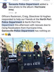 Officers from the Sarasota, Fla., Police Department