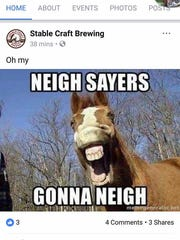 Screen grab of comments from Stable Craft Facebook