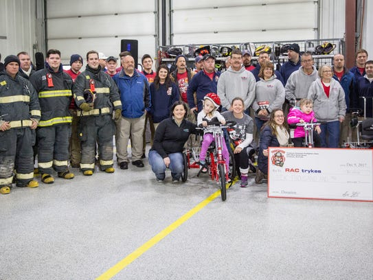 The Yorktown Fire Department stands with the benefactors