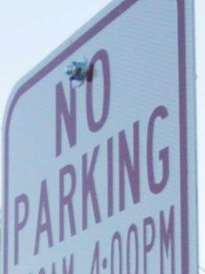 No parking sign.