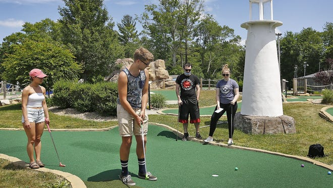 Starland in Hanover is proposing to build a zip line to bring in more business to the park, including to play minigolf, like Madison Adams, Peter Wilkins, Joel Dwyer and Jillian Robinson.