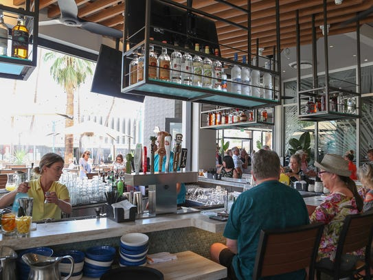 The newly opened Tommy Bahama Marlin Bar in downtown