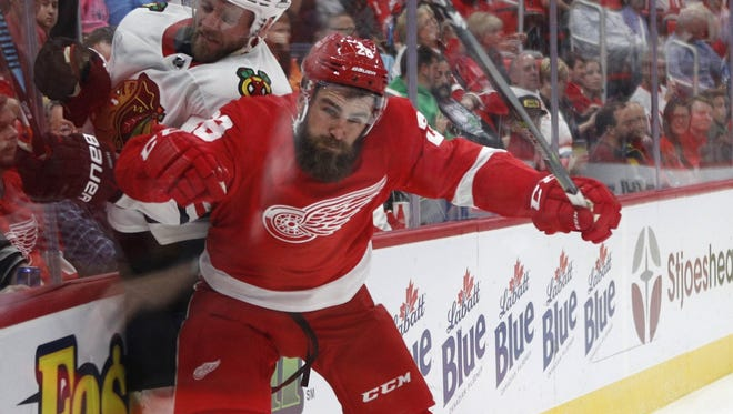 Holland native Luke Witkowski spent parts of three seasons with the Tampa Bay Lightning before signing a two-year deal with the Wings this year.