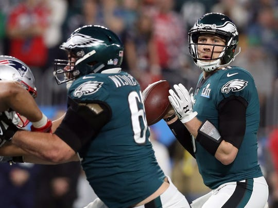 Nick Foles threw for 373 yards and three touchdowns in defeating the Patriots.