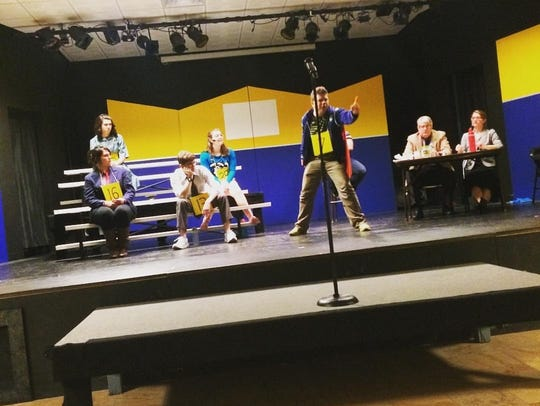 """Actors rehearse a scene from """"The 25th Annual Putnam"""