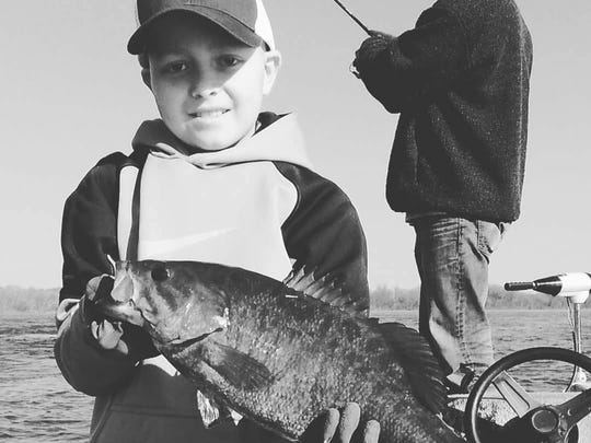 William Sweger, 12 of Perry County, loves fishing.