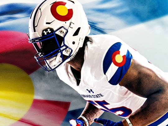 """Colorado State unveiled new """"state-pride"""" uniforms Sept. 21 from Under Armour that the Rams will wear for their Nov. 11 home game against Boise State."""