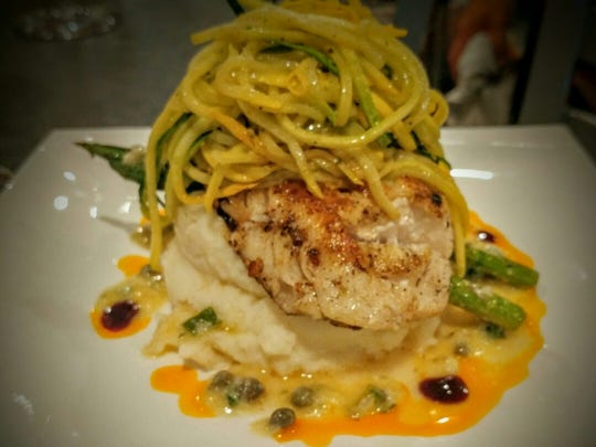 Seared grouper from The Fish & Vine in south Fort Myers.