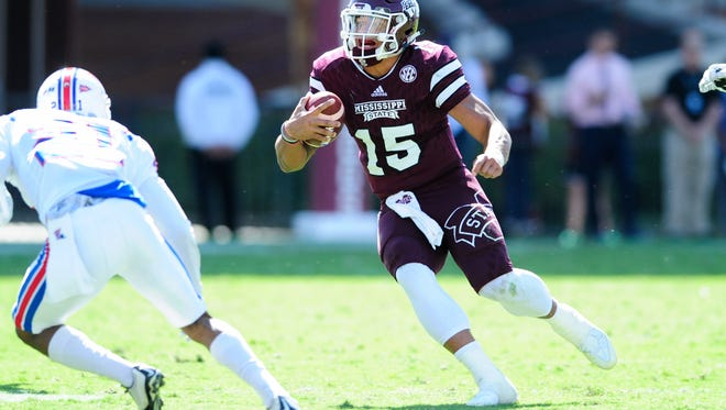 Mississippi State quarterback Dak Prescott could be running more to close out the season.