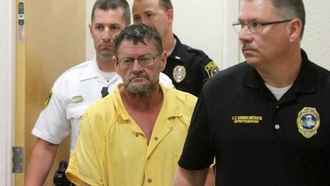 James Russell Vanlaningham enters Gautier Municipal Court on March 30 for his initial appearance in the death of Amanda Hicks.
