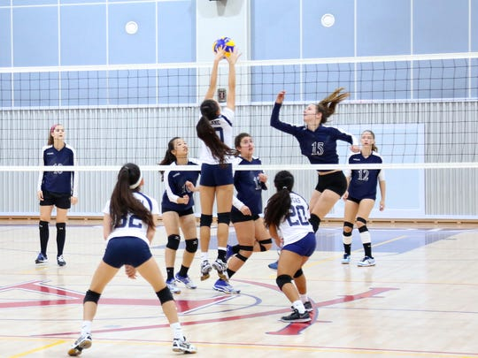 Haley Senne (10), of the St. Paul Christian Warriors, was key to the Warriors' second-place finish at the Asian Christian Schools' Conference High School Girls Volleyball Tournament at the Yongsan International School in Seoul. Senne was named to the all-tournament team.