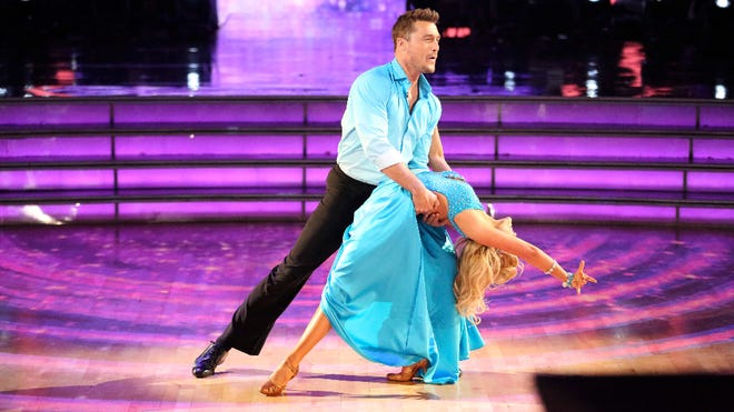 """Chris Soules and Witney Carson perform during """"Dancing With the Stars"""" on April 27."""
