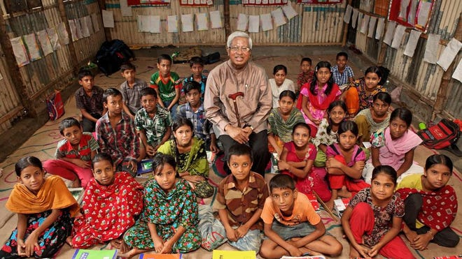 Fazle Hasan Abed, the chairperson of BRAC, has visited Karail slum and BRAC School in Dhaka. He went there for a photo session of WISE book. Abed was named the 2015 World Food Prize Laureate.