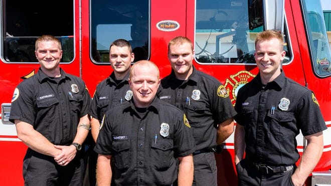 Salem Fire Department's recent graduates of firefighter academy, who after completing 14 weeks of intensive training, will now continue into their year long probationary period.