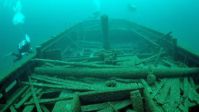The Rouse Simmons, also known as the Christmas Tree Ship, sank on Nov. 23, 1912, in Lake Michigan off the coast of Two Rivers, and is one of the 39 known ships in the proposed Lake Michigan National Marine Sanctuary.