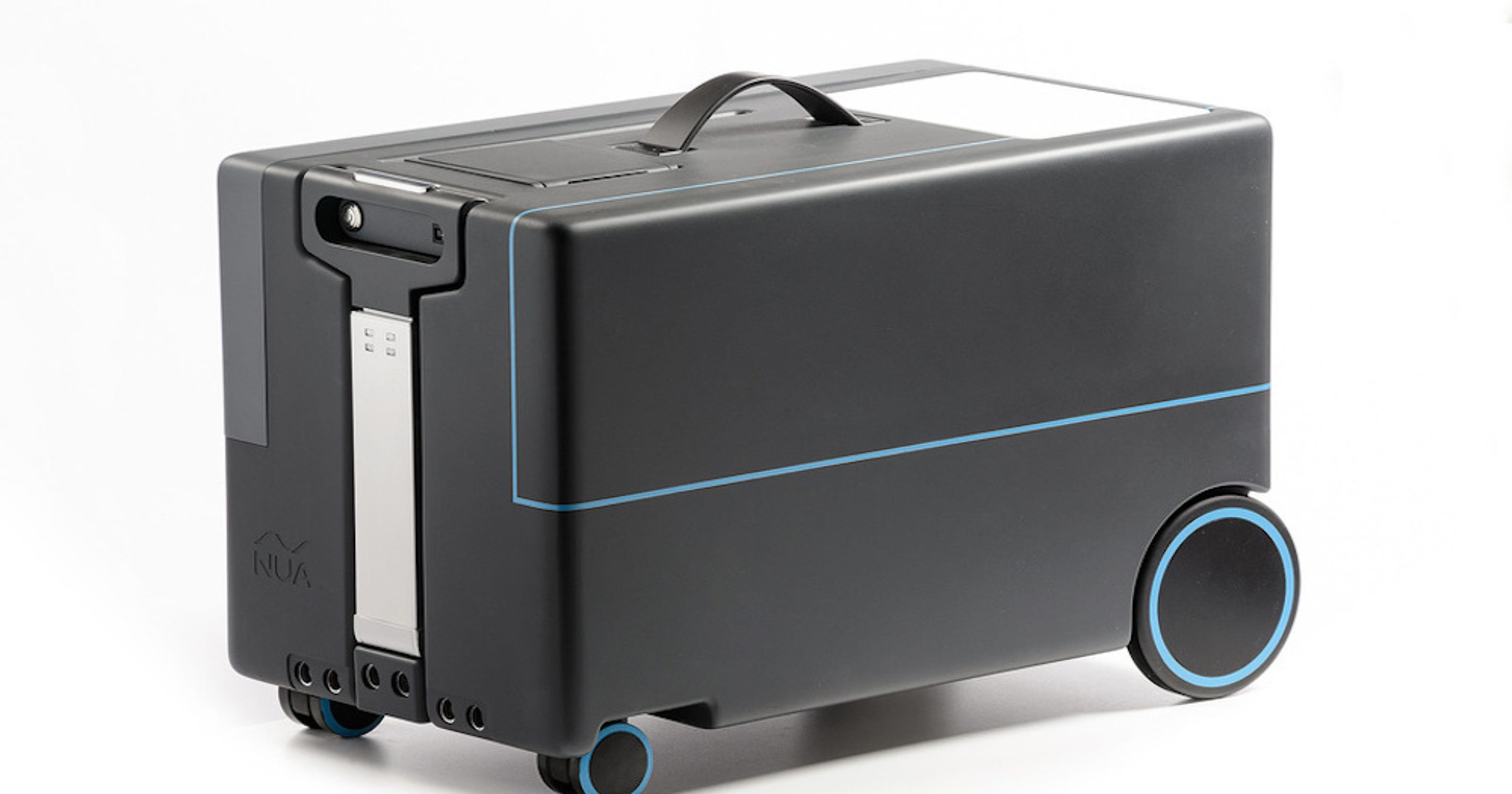 45c06e50769 Ultra smart hands-free suitcase would pair with your phone