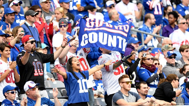 New York Giants fans during the game.