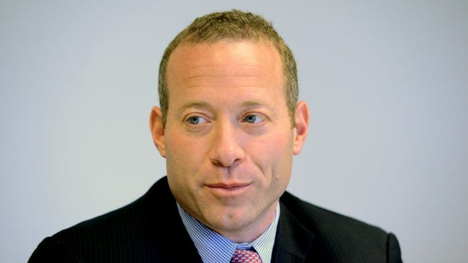 Fifth District Democratic candidate Josh Gottheimer during a conversation with the Record's editorial board Thursday, Oct. 20, 2016.