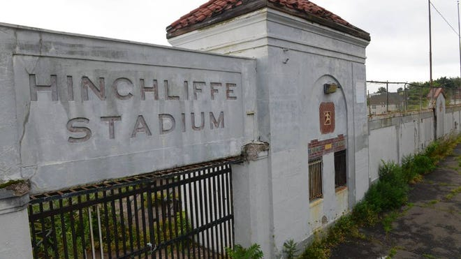 Paterson's plan would give the exterior of Hinchliffe Stadium a face-lift but would not address the interior or structural issues.