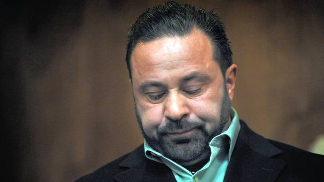 Joe Giudice during his sentencing in 2015 for unrelated driver's license fraud.
