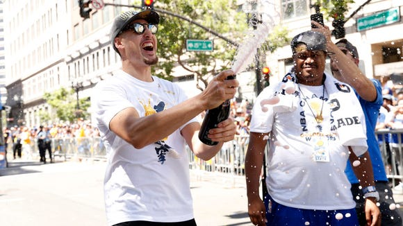 The Warriors have gone through $900,000 in champagne since sweeping the Cavs