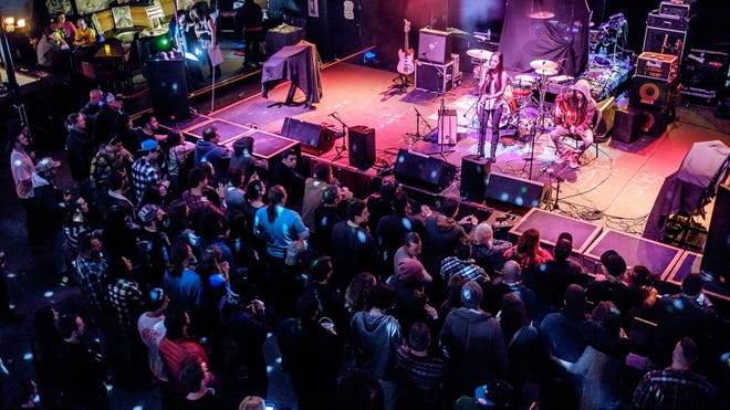 The Dashpop music festival, created by Wake Forest students in Len Neighbors' communication and entrepreneurship class, takes place in downtown Winston-Salem on Saturday, March 28, 2015. Leilani Wolfgramm performs at Ziggys.